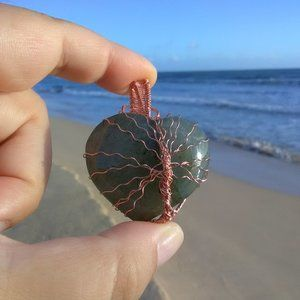 Labradorite Copper Tree of Life Necklace